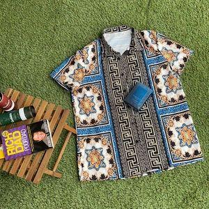Men's Versace inspired button down shirt